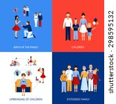 family design concept set with... | Shutterstock .eps vector #298595132