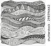 artistically ethnic pattern.... | Shutterstock .eps vector #298596662