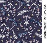 floral pattern  | Shutterstock . vector #298599455