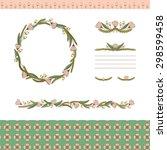 floral ornament botanical... | Shutterstock . vector #298599458