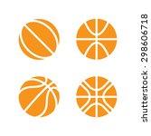 basketball. ball orange... | Shutterstock .eps vector #298606718