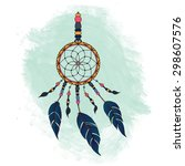 colorful dreamcatcher. abstract ... | Shutterstock .eps vector #298607576