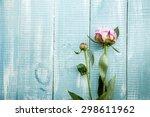 Pink Peonies Flowers Over...