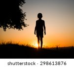 Silhouette of a beautiful teen...