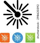 laser icon | Shutterstock .eps vector #298620392