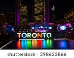 Stock photo toronto canada july toronto pan american games ambience nathan phillips square 298623866