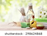 spa still life with essential... | Shutterstock . vector #298624868
