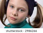 portrait of the girl | Shutterstock . vector #2986266
