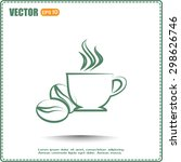 vector illustration of cup  | Shutterstock .eps vector #298626746
