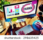 change improvement development...   Shutterstock . vector #298635425
