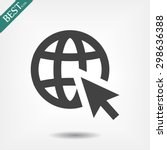 go to web . vector icon 10 eps | Shutterstock .eps vector #298636388