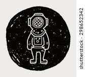 diver doodle   Shutterstock .eps vector #298652342