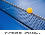 yellow ball hits the racket on... | Shutterstock . vector #298658672
