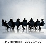 business people conference... | Shutterstock . vector #298667492
