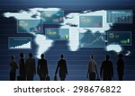 group of business people... | Shutterstock . vector #298676822