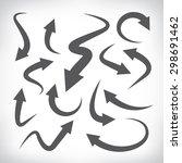 arrow icons set  vector arrows | Shutterstock .eps vector #298691462