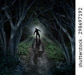 Horror Monster Walking In A...