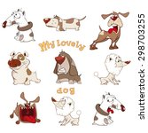 Stock vector set of cute dogs for you design cartoon 298703255