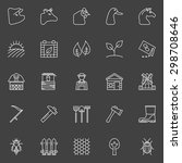 farm icons set   collection of... | Shutterstock .eps vector #298708646
