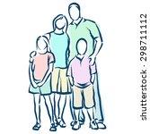 family | Shutterstock .eps vector #298711112