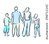 family | Shutterstock .eps vector #298711142