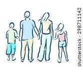 family | Shutterstock .eps vector #298711142