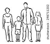 family | Shutterstock .eps vector #298711202