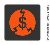 financial crash icon from... | Shutterstock .eps vector #298717058