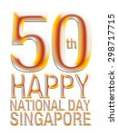 happy 50th independence of... | Shutterstock . vector #298717715