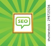 text seo in chat bubble  in...