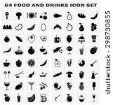 set of drinks  kitchen  bakery... | Shutterstock .eps vector #298730855
