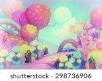 illustration  the colorful... | Shutterstock . vector #298736906