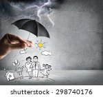 life and family insurance  ... | Shutterstock . vector #298740176