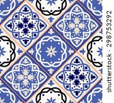 gorgeous seamless patchwork... | Shutterstock .eps vector #298753292