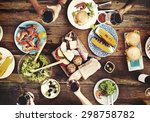 food table delicious  meal... | Shutterstock . vector #298758782