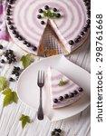 beautiful sliced cheese cake... | Shutterstock . vector #298761668