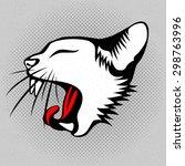 vector illustration of the cats ... | Shutterstock .eps vector #298763996