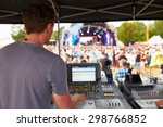 sound and lighting engineer at...   Shutterstock . vector #298766852