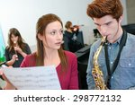 learning to play the sax | Shutterstock . vector #298772132