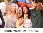 three friends in the audience... | Shutterstock . vector #298773752