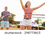 man and woman dancing with hula ... | Shutterstock . vector #298773815