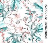 field flowers seamless pattern | Shutterstock . vector #298773992