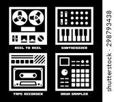 vintage sound recording music... | Shutterstock .eps vector #298793438