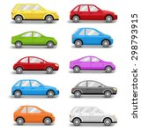 multicolored cars collection... | Shutterstock . vector #298793915