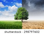 tree with environmental change  ... | Shutterstock . vector #298797602