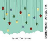 cute and abstract christmas... | Shutterstock .eps vector #298807745