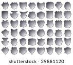 silver shields | Shutterstock .eps vector #29881120