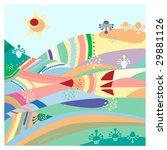 fantastic varicolored hills...   Shutterstock .eps vector #29881126