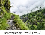 Scenic Hiking Route Among Gree...