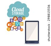 cloud storage digital design ... | Shutterstock .eps vector #298815536